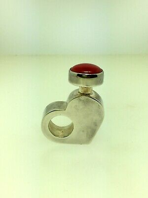 Art Deco Sterling Silver Perfume Bottle - Excellent Condition - Very Nice!!!!!!!