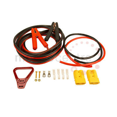 Self assembly booster cable kit Yellow Anderson SB175 Crocodile Clips M8 rings