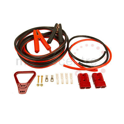 Self assembly jump lead kit Red Anderson SB175 Crocodile Clips M8 terminals