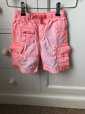 BABY GAP Boys Coral Cargo Shorts Suits Ages 2-4Years