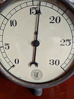 "Vintage Moto Meter Industrial Steampunk Gauge 4.75"" Indian Chief Lithograph Logo"
