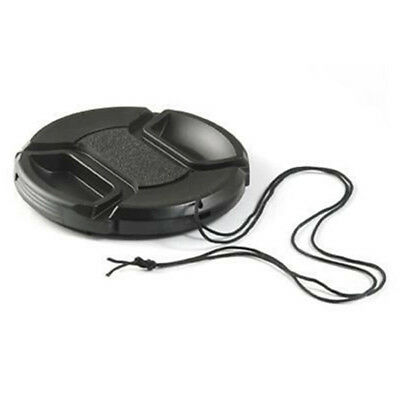 EG_ 49mm Snap-on Lens Cap Cover with Cord for Canon Nikon Camera Gracious
