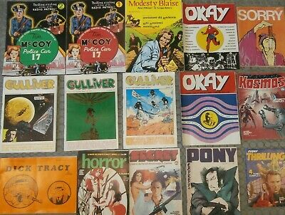 Lotto 15 fumetti Tim McCoy Gulliver Dick Tracy Pony Express 1973
