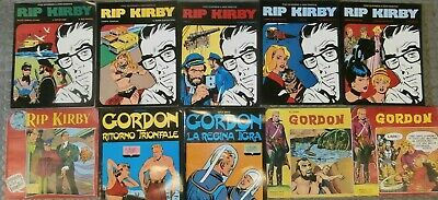 Lotto 10 fumetti Rip Kirby Flash Gordon Comic Art 1983 Fratelli Spada 1975