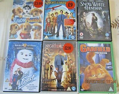 DVD Bundle - new and pre-loved - family, animated, live action *FREE SHIPPING*