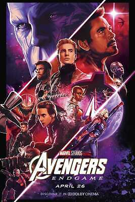 F-59 Avengers Endgame Movie Wall Art 24x36 12x18fabric Poster decor print custom