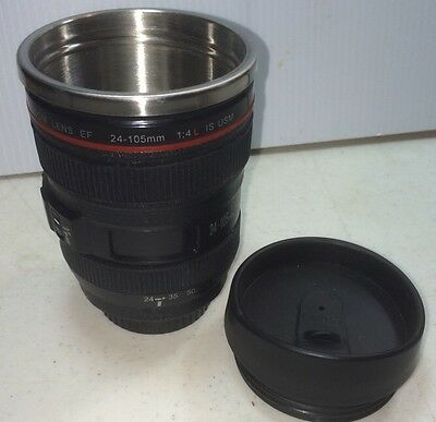 Faux 24-105mm Lens Thermos Camera Mug Water Coffee Tea Mug Cup Gift