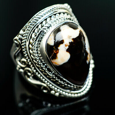 Large Peanut Wood Jasper 925 Sterling Silver Ring Size 8 Ana Co Jewelry R964902F