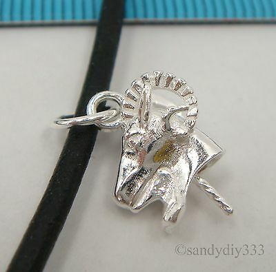 1x STERLING SILVER SHEEP PENDANT PEARL BAIL TWIST PIN SLIDE CONNECTOR #2399