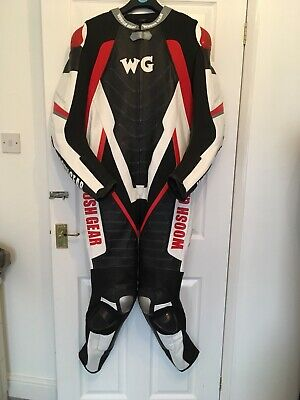 Mens motorbike leathers one piece Suit Large
