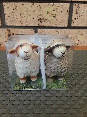 Novelty Ceramic Sheep Salt & Pepper Shakers New Zealand Collectable