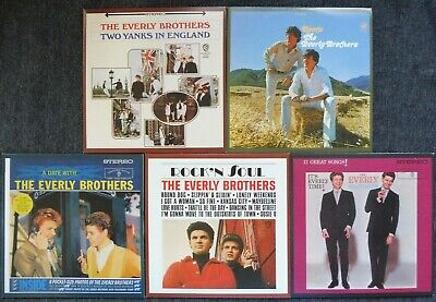 The Everly Brothers Original Album Series Box Set, 5 CD, 2010, VGC.