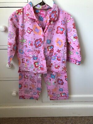 Albetta Girls Pink Flowers Pyjamas Set Aged 2-3 Years