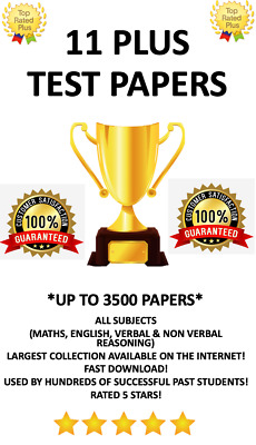 11+ Plus Eleven Plus 3500 Exam Tests All Subjects Gl Cem Bond *Cheapest*
