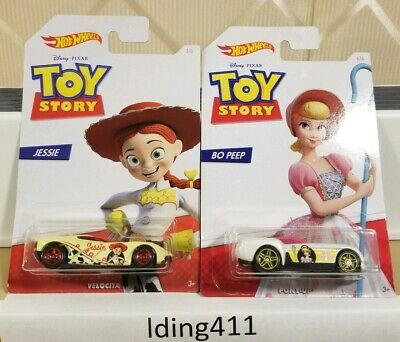 2019 Hot Wheels Disney Pixar Toy Story 4 Jessie #3 Bo Peep #6 NewSealed Lot of 2