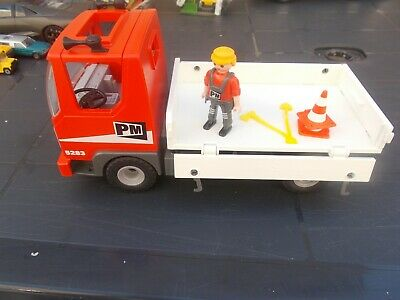 Playmobil 27.5 Cm Long Dropside Tipping Builders Truck-Used/Unboxed-Lovelyitem!!