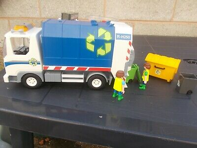 Playmobil 12'' Long Recycling Refuse Truck-Used/Unboxed-Lovelyitem!!
