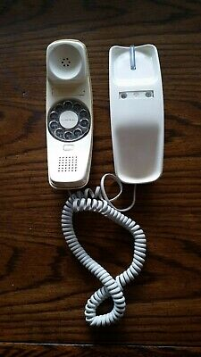 Fast US Ship Telephone Rotary Dial Vintage Wall Mount Trimline Western Electric