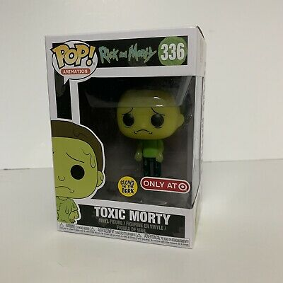 Funko Pop! Rick And Morty Toxic Morty GID #336 Target Exclusive in Pop Protector