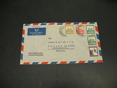 Palestine 1940s airmail cover to Switzerland folds *29869
