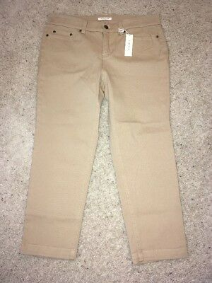 NWT Women's Jones New York Beige Jean Petite Cropped Capris Size 10P Stretch