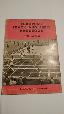 European Track and Field Handbook 1962 - Annuario vintage - Buono stato