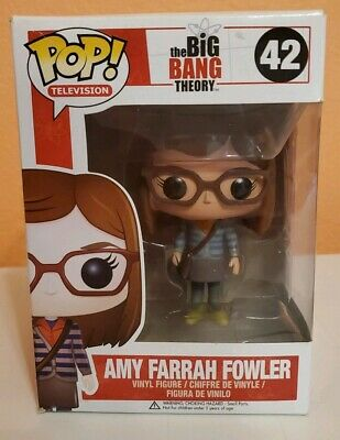 Rare Vaulted Funko Pop Amy Farrah Fowler retired 42 Big Bang Theory green shoes