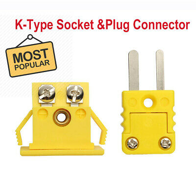 K Type Thermocouple Mini connector Male & Female Yellow Plug & Socket
