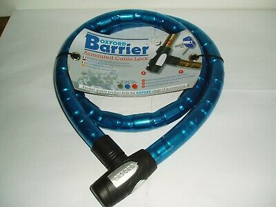 Oxford Barrier Armoured Cable Lock 1.5 M Blue  Brand New