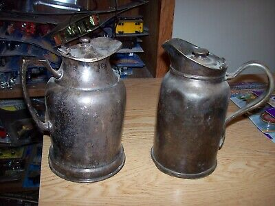 Grand Silver Wear Brite Nickel Silver Pitcher & REED & BARTON SILVER SOLDERED