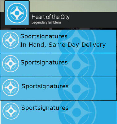 Heart of the City Emblem Code Destiny 2 Same Day Delivery PS4 XBOX PC