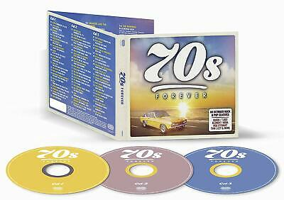 70's FOREVER 3 CD ALBUM SET - VARIOUS ARTISTS Released AUGUST 16th 2019 NEW CD