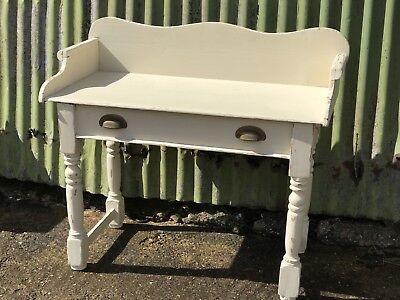 Painted Wooden Wash Stand Console Hall Table Shabby Chic Unit Dressing Table