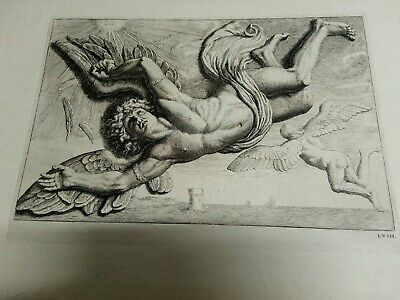XVII Century -RARE  Etching whit watermark of coat of arms of French king family