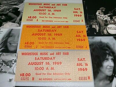 Woodstock 3 Original Saturday 1969 Tickets Jimi Hendrix Grateful Dead Santana V