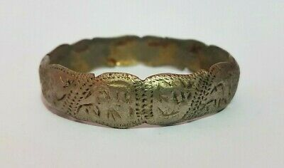Old Viking Bracelet Rare Silver Color Artifact Extremely Ancient