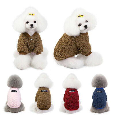 Small Pet Dog Clothes Puppy Cat Sweater Hoodie Coat Winter Warm Costume Apparel