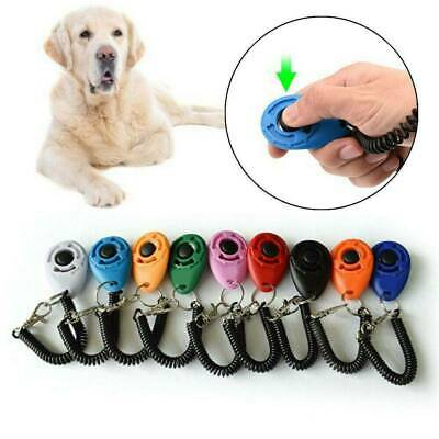 New Dog Training Clicker Click Button Trainer Pet Cat Puppy Obedience Aid Wrist
