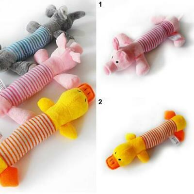 New Dog Toy Pet Plush Sound Chew Squeaker Squeaky Pig Elephant Duck Toy Dear