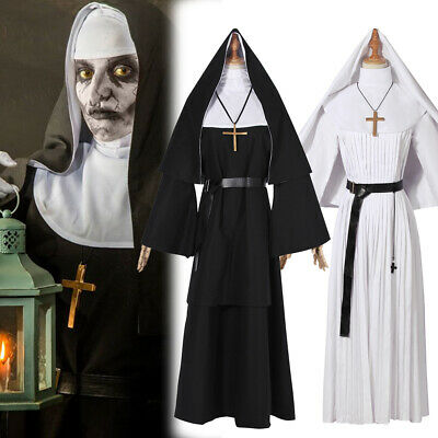 The Nun Valak Cosplay Costume Halloween The Conjuring 2 Sister Fancy Dress Robe
