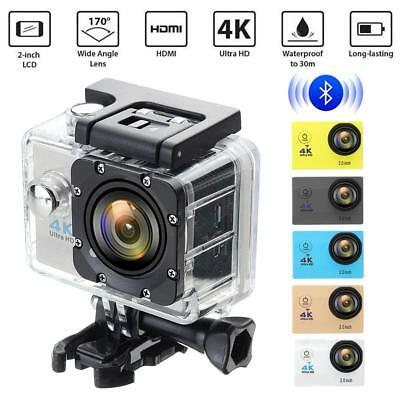 "4K Ultra SJ9000 Wifi Sport Action Camera 2.0"" DV 1080P HD Cam DVR Waterproof GL"