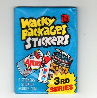 VINTAGE WACKY PACKAGES TOPPS 1985 UNOPENED PACK STICKERS