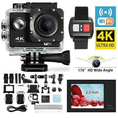 Action Camera 4K 1080P Sport Camcorder Waterproof 30M DV DVR Helmet WiFi Remote