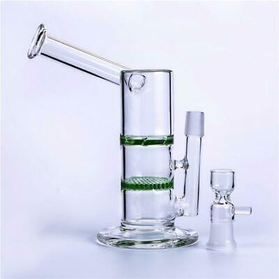 Glass bubbler glass bongs with honeycomb percolator shisha water pipe 18mm joint