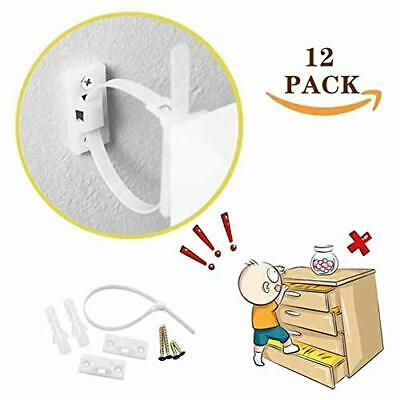 Furniture Wall Straps (12-Pack) Baby Safety Furniture Anchors Kit, Wall Furnitur