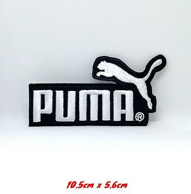 Puma Sports logo white badge Iron Sew on Embroidered Patch #1177