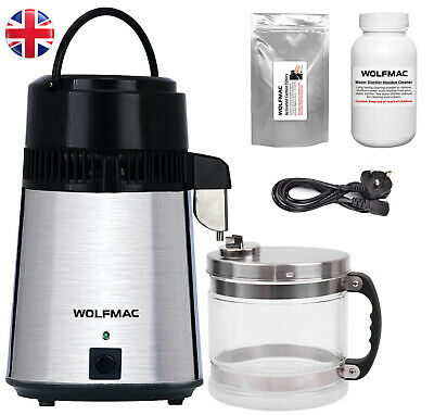 Wolfmac® Stainless Steel Water Distiller with Glass Jug - UK Supplier
