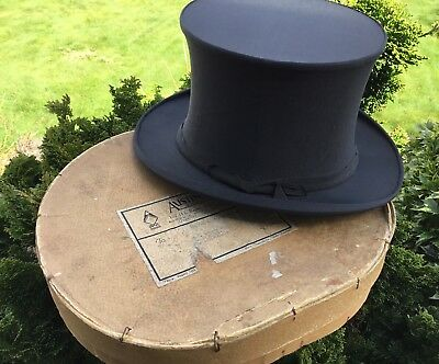 Collaspable Opera Top Hat By In Original Card Box Circa 1928 Good Display