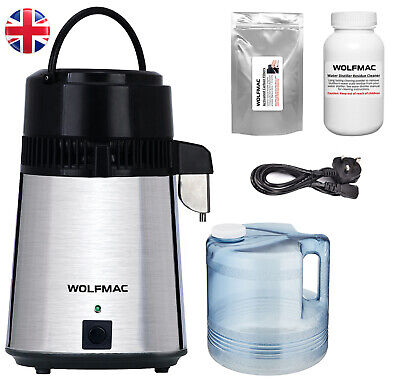 Wolfmac® Stainless Steel Water Distiller with Polycarbonate Jug - UK Supplier