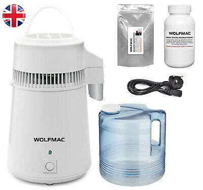 Wolfmac® White Stainless Steel Water Distiller with Poly Jug - UK Supplier